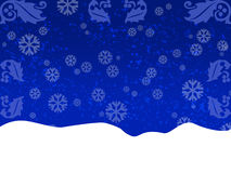 μπλε χαιρετισμός καρτών Στοκ Εικόνα