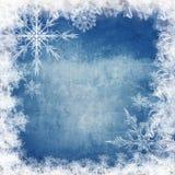 Μπλε χειμερινή ανασκόπηση με snowflakes Στοκ Φωτογραφία