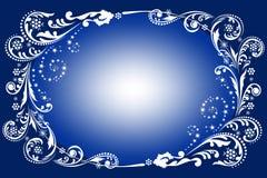 Μπλε χειμερινή ανασκόπηση Στοκ Εικόνα