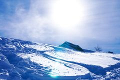 μπλε χειμώνας ουρανού βουνών τοπίων Στοκ Φωτογραφία