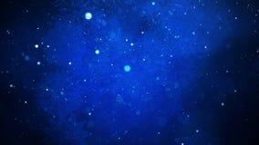Μπλε χιονίζοντας υπόβαθρο Χριστουγέννων χειμερινών χωρών των θαυμάτων ελεύθερη απεικόνιση δικαιώματος