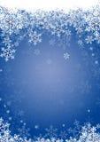 μπλε χιόνι νιφάδων Στοκ Εικόνα