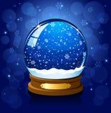 μπλε χιόνι σφαιρών Χριστου ελεύθερη απεικόνιση δικαιώματος