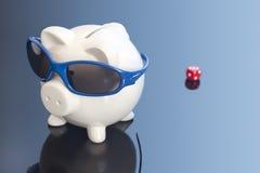 Μπλε χρημάτων Στοκ Εικόνες