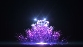 Μπλε χριστουγεννιάτικο δέντρο HD απεικόνιση αποθεμάτων