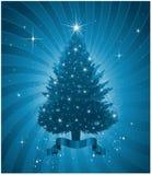 μπλε χριστουγεννιάτικο Στοκ Εικόνα