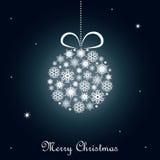 μπλε Χριστούγεννα ανασκό& Στοκ εικόνες με δικαίωμα ελεύθερης χρήσης