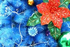 μπλε Χριστούγεννα ανασκό& διανυσματική απεικόνιση