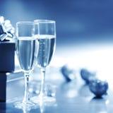 μπλε Χριστούγεννα καρτών Στοκ Φωτογραφία