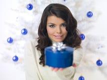 μπλε Χριστούγεννα νεοσ&sigm Στοκ φωτογραφία με δικαίωμα ελεύθερης χρήσης