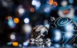 Μπλε Χριστούγεννα σειρά-02 Στοκ εικόνες με δικαίωμα ελεύθερης χρήσης