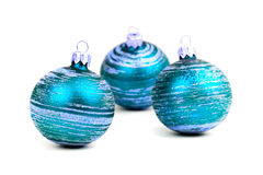 μπλε Χριστούγεννα σφαιρώ&nu Στοκ φωτογραφίες με δικαίωμα ελεύθερης χρήσης