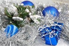 μπλε Χριστούγεννα στοκ εικόνα με δικαίωμα ελεύθερης χρήσης