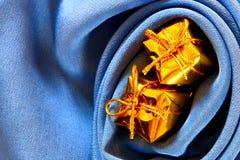 μπλε χρυσός κιβωτίων ανα&sigma Στοκ Εικόνα