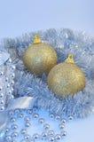 μπλε χρυσό ασήμι σφαιρών αν&al Στοκ φωτογραφία με δικαίωμα ελεύθερης χρήσης