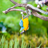 Μπλε & χρυσό πορτρέτο Macaw Στοκ Εικόνες