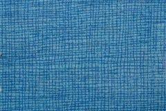 Μπλε χρώμα σχεδίων υφάσματος επιφάνειας κινηματογραφήσεων σε πρώτο πλάνο, υπόβαθρο σύστασης Για το φυσικό υπόβαθρο, έμβλημα, εκτύ στοκ φωτογραφία με δικαίωμα ελεύθερης χρήσης