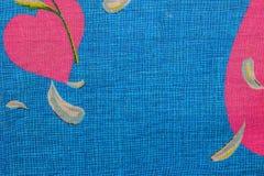 Μπλε χρώμα σχεδίων υφάσματος επιφάνειας κινηματογραφήσεων σε πρώτο πλάνο, υπόβαθρο σύστασης Για το φυσικό υπόβαθρο, έμβλημα, εκτύ στοκ εικόνα με δικαίωμα ελεύθερης χρήσης