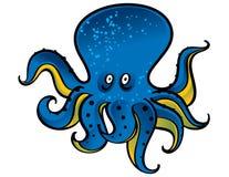 μπλε χταπόδι διανυσματική απεικόνιση
