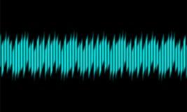 Μπλε ψηφιακά ακουστικά υγιή κύματα εξισωτών στο μαύρο υπόβαθρο, διανυσματική απεικόνιση