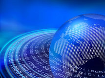 μπλε ψηφιακές τροχιές στ&omicro ελεύθερη απεικόνιση δικαιώματος
