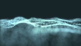 Μπλε ψηφιακή αφηρημένη θολωμένη τίτλος ζωτικότητα υποβάθρου κυμάτων του μορίου άνευ ραφής ελεύθερη απεικόνιση δικαιώματος