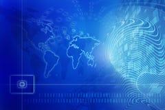 μπλε ψηφιακός ανασκόπηση&sigm Στοκ Εικόνες