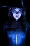 μπλε όμορφη μάγισσα Στοκ φωτογραφίες με δικαίωμα ελεύθερης χρήσης