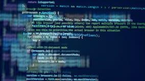 Μπλε όργανο ελέγχου με έναν κώδικα απόθεμα βίντεο