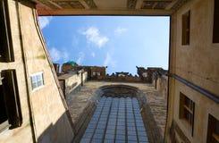 μπλε όψη ουρανού της Πράγα&sig Στοκ Εικόνες