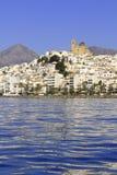 μπλε όψη της Ισπανίας θάλα&sigm Στοκ φωτογραφία με δικαίωμα ελεύθερης χρήσης