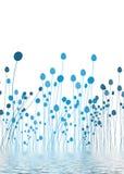 μπλε ύδωρ χλωρίδας Στοκ εικόνα με δικαίωμα ελεύθερης χρήσης