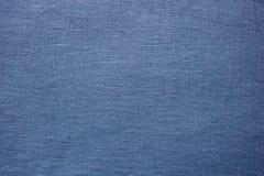 Μπλε ύφασμα, λεπτομερής υφαντική επιφάνεια Στοκ φωτογραφία με δικαίωμα ελεύθερης χρήσης