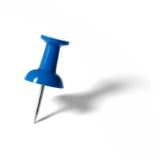 μπλε ώθηση καρφιτσών Στοκ Εικόνες