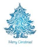 μπλε δέντρο χρώματος Χρισ&tau Στοκ Φωτογραφίες