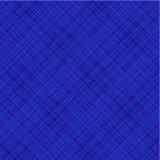 μπλε διαγώνιο συμπεριλαμβανόμενο ύφασμα πρότυπο άνευ ραφής Στοκ Φωτογραφία