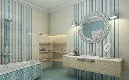 Μπλε Bahtroom Στοκ Εικόνα