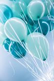 Μπλε ballons αέρα υπόβαθρο Στοκ εικόνες με δικαίωμα ελεύθερης χρήσης