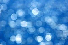 μπλε bokeh Στοκ Εικόνες
