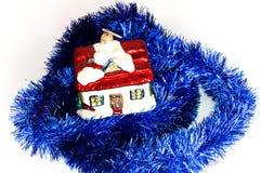 μπλε bomblet σπίτι Χριστουγέννω&nu Στοκ φωτογραφίες με δικαίωμα ελεύθερης χρήσης