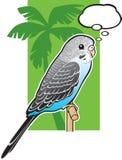 μπλε budgerigar parakeet μωρών διανυσματική απεικόνιση