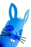 μπλε bunny αυγό Πάσχας γωνιών Στοκ Εικόνες