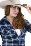 μπλε cowgirl Στοκ φωτογραφία με δικαίωμα ελεύθερης χρήσης