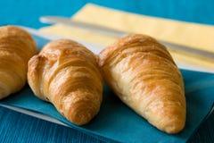 μπλε croissant ανασκόπησης στοκ εικόνα