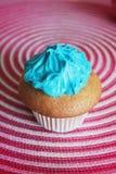 μπλε cupcake Στοκ Εικόνες
