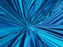 μπλε deconstruction ατελείωτο Στοκ φωτογραφία με δικαίωμα ελεύθερης χρήσης