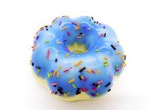 Μπλε doughnut squishy μαγνήτης που απομονώνεται στο άσπρο υπόβαθρο με το γ στοκ φωτογραφίες με δικαίωμα ελεύθερης χρήσης