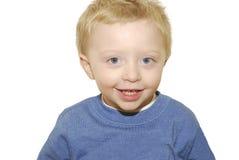 μπλε eyed απομονωμένο χαμόγελο αγοριών Στοκ φωτογραφίες με δικαίωμα ελεύθερης χρήσης