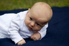 μπλε eyed κορίτσι μωρών Στοκ Φωτογραφία