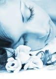 μπλε eyelash Στοκ εικόνα με δικαίωμα ελεύθερης χρήσης